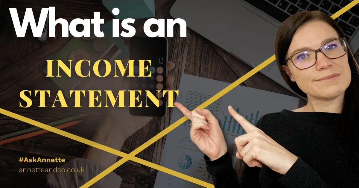 a blog featured image with a topic title about What Is An Income Statement?