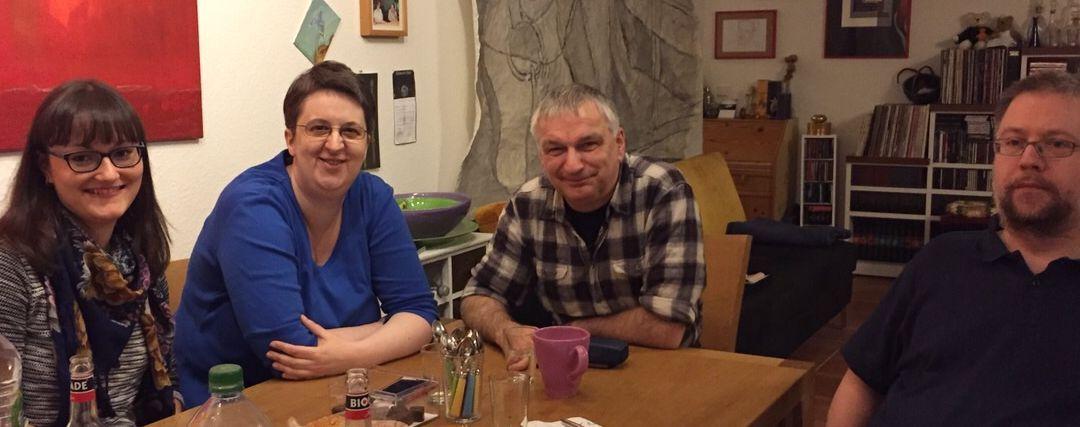 Rebecca Ohm, Annette Schwindt, Peter Müller und Thomas Reis