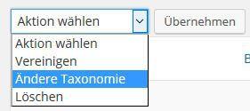 Zu ändernde Taxonomie auswählen