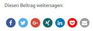 Sharebuttons auf annetteschwindt.de