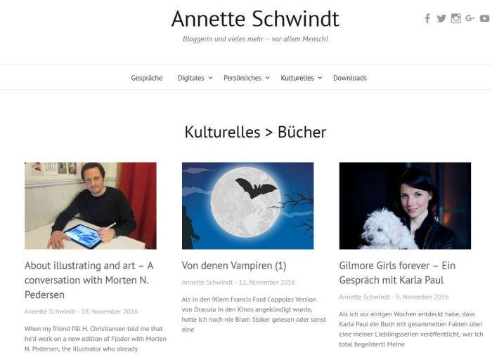 Screenshot neue Kategorieseite Kulturelles > Bücher