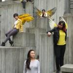 (From up left to down right) Queenelle Gazmen (Valkyrie), Vishal Verma (Tian), Morgan Klerner (Pari), Karina Garcia (Nikita), Carol Tagawa (Sarah), Photography by David Le