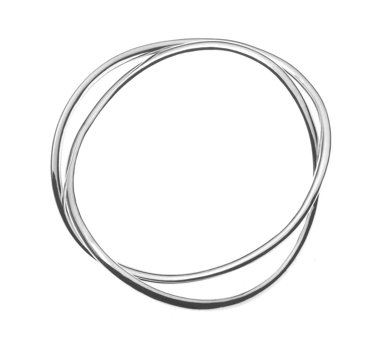 No. 4: 'Double Twist' Sterling Silver Bracelet