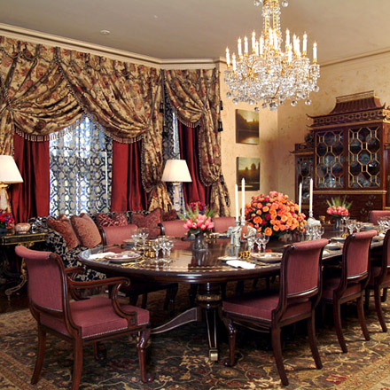 Ann Getty Associates  Elegant Dining Room