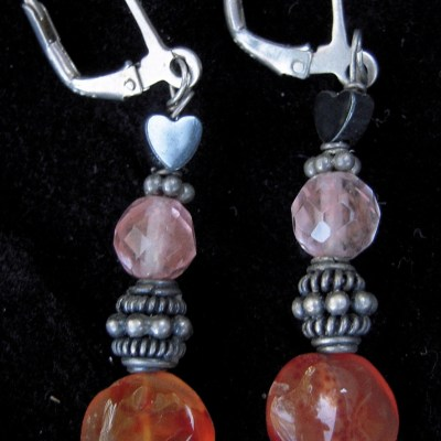 bright-orange-carnelian-watermelon-quartz-earrings