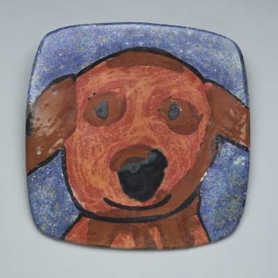 Happy Dog Plate