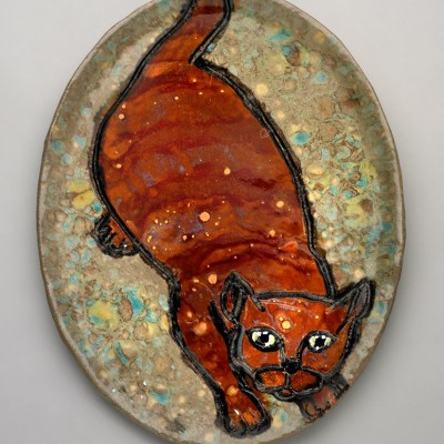 Jumping Cat Plate