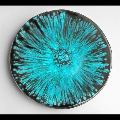 Oasis blue platter