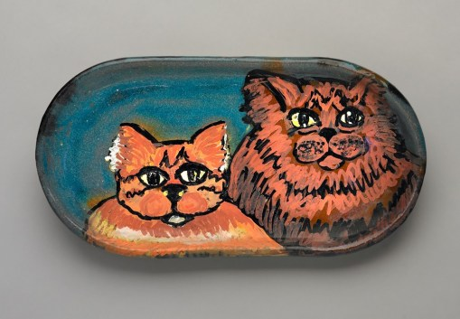 Two cats platter
