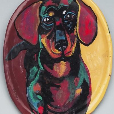 Wiener dog plate