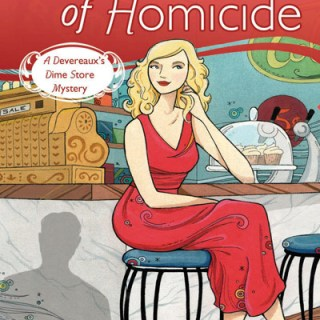 Little Shop of Homicide book cover with illustration by Anni Betts