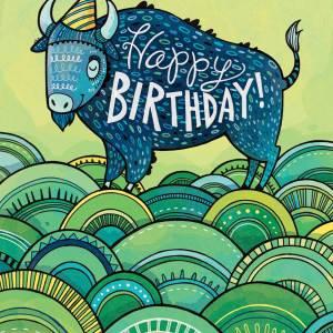 Birthday Card: Buffalo
