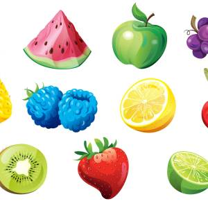 Fruits: concept art for Jolly Ranchers