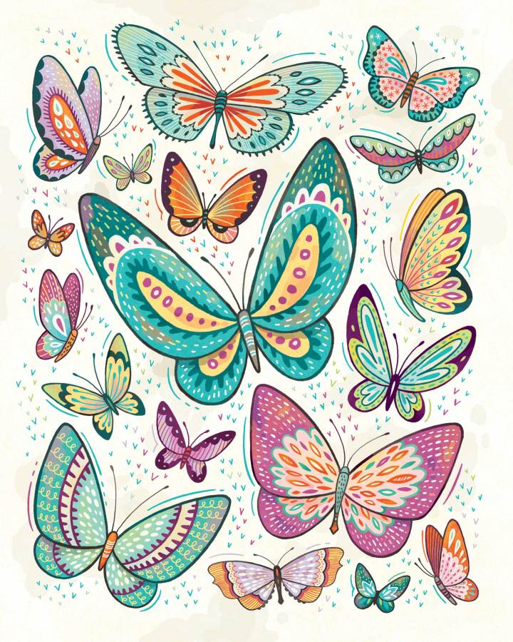 Butterflies: created as print for sale