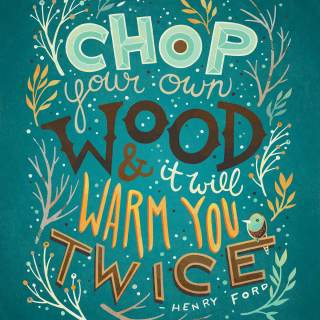 Illustrated quote by Henry Ford