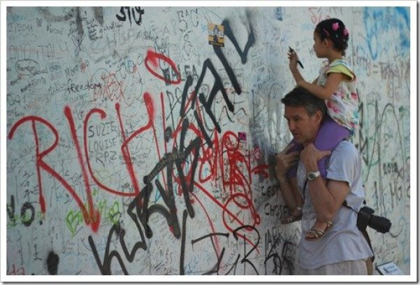 A Day at the Berlin Wall near Warschauer Strasse Station: Travel can be educational for you and your kids
