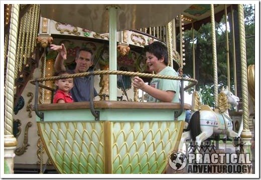 Ride a carrousel in Nice France