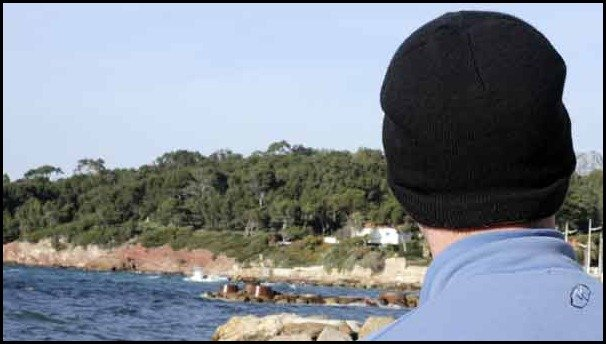 A day at the beach in the south of france: Le Pradet looking towards Toulon