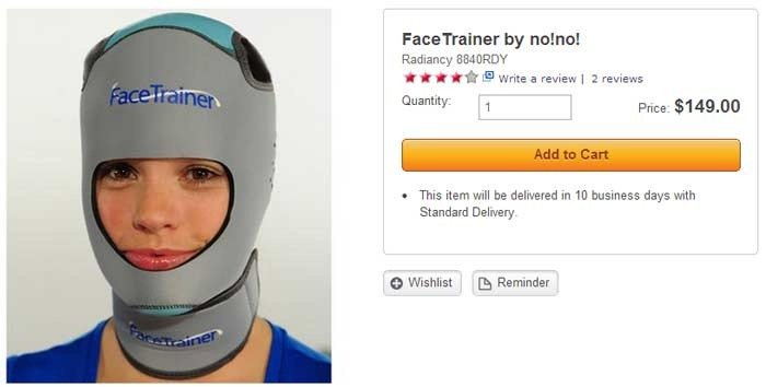 facetrainer: stupid skymall products you can buy