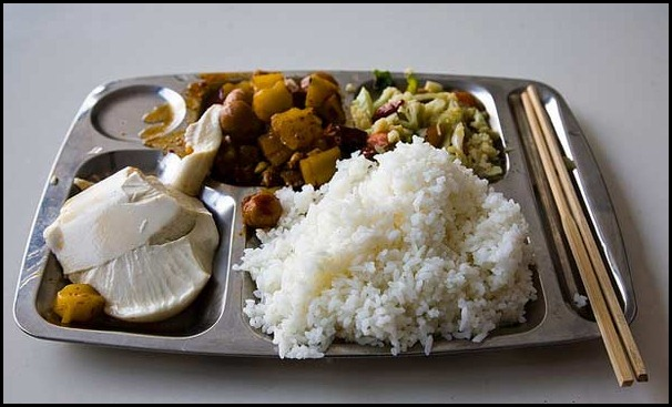 school lunces around the world/ China: Childrens school lunch