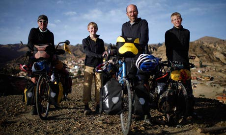 The Vogel Family: They cycled 17,300 miles along the Pan America Highway with 2 ten year old boys