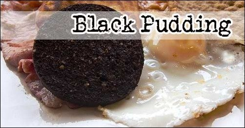 Weird Traditional British Food: black-pudding blood sausage