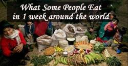 photos of what people eat in one week around the world