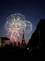 Paris fireworks bastille day