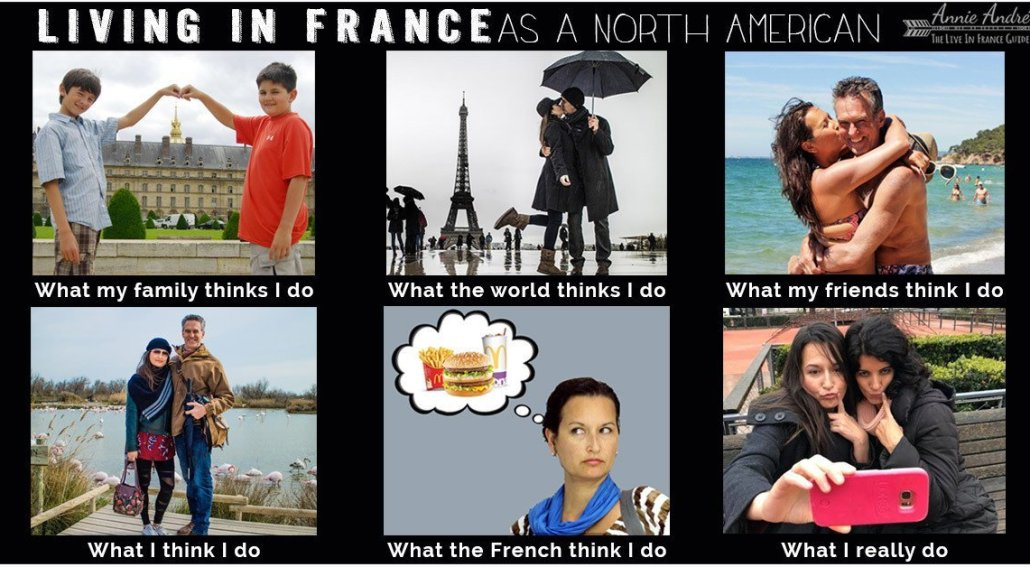 What people think I do: Travel meme about living in France