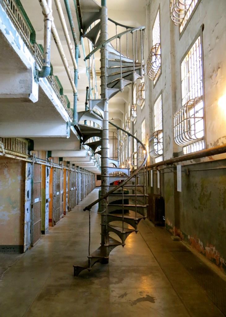 Stairs inside Alcatraz Prison