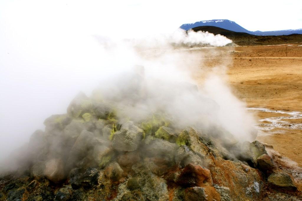Geological phenomenon in Myvatn, Iceland