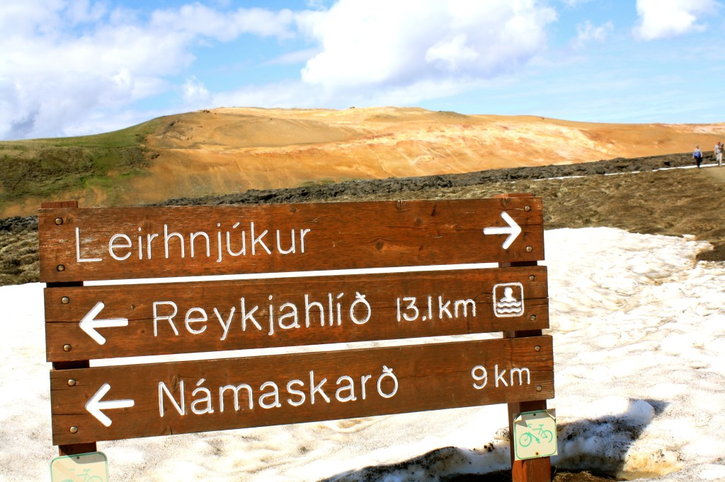 Leirhnjukur Path in the North of Iceland