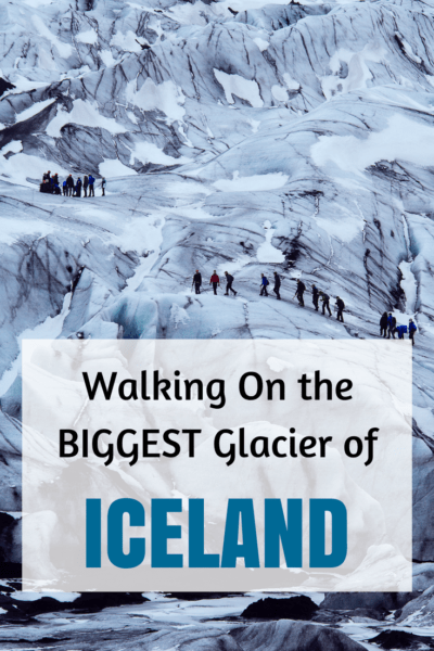 Ever thought of walking on a glacier? Iceland offer you to do this unique experience. #Iceland #Europe #Travel #Trek