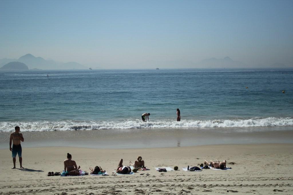 People enjoying the beach in Rio de Janeiro