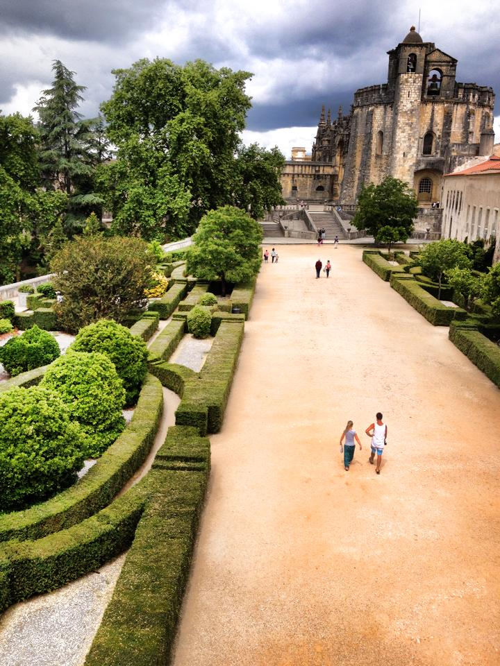 Walking at the Covento Do Cristo, a beautiful site to visit in Tomar, Portugal