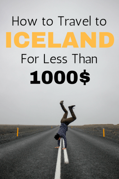 It's possible to travel for a week in Iceland for less than 1000$. Here's how. #iceland #travel #northernlights #backpckers