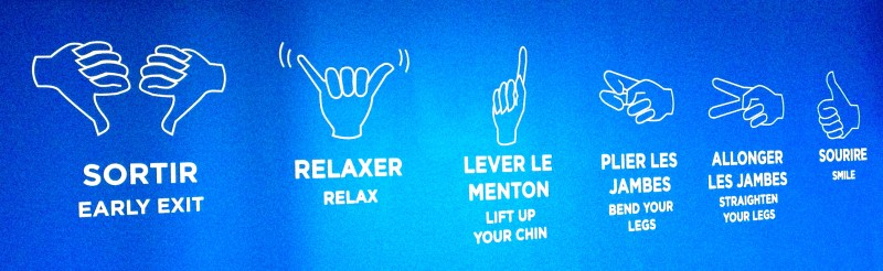 Signs to communicate while Skydiving