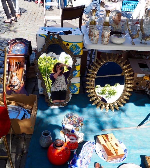 Market at Place du Jeu de Balle, Marolles neighbourhood, Brussels