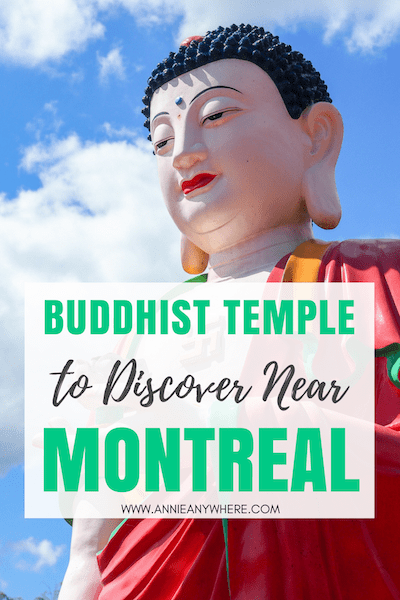 About an hour drive from Montreal, there's one of the biggest Buddhist Temple in the province. A sure off-the-beaten-path place to discover while you're in Canada. #exploreCanada #Quebecoriginal #quebec #laurentides #laurentians #buddhist