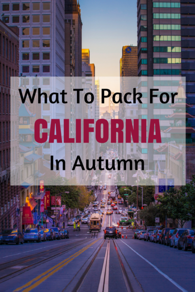 A Complete Packing List for a Trip in California in Autumn. Make sure to Print the Freebie so You Don't Forget Anything! #California #USA #Travel #Packinglist #SanFrancisco #LosAngeles