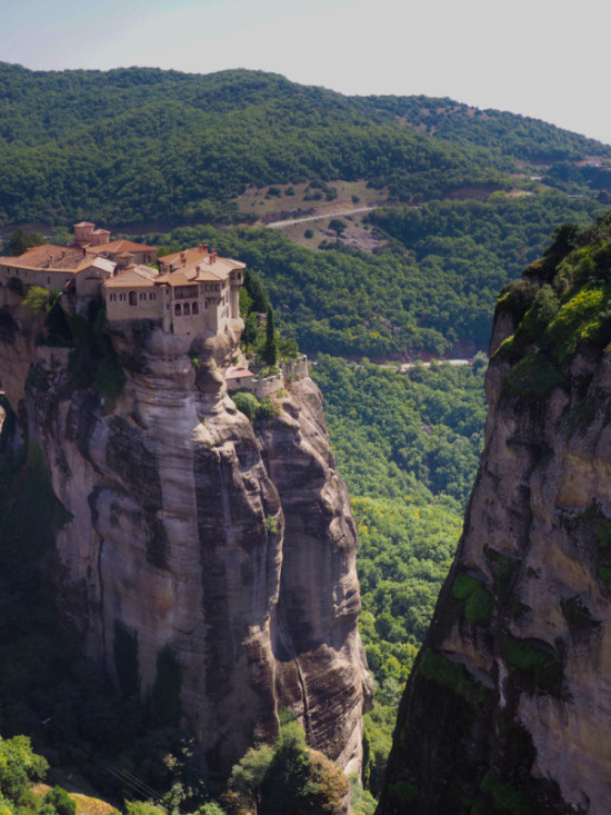 View from Great Meteoro monastery in Greece