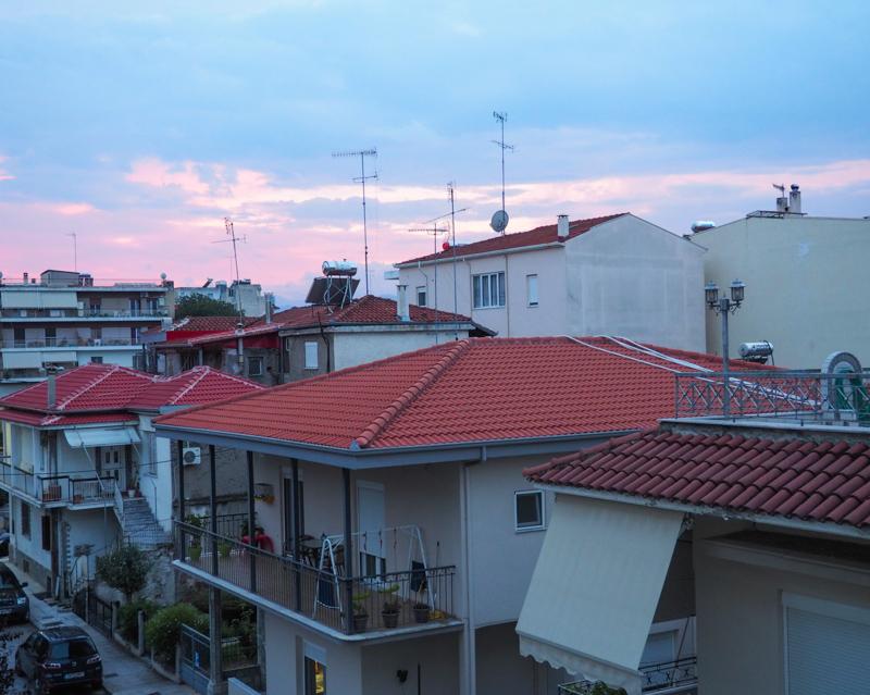 Sunset in Trikala, Greece