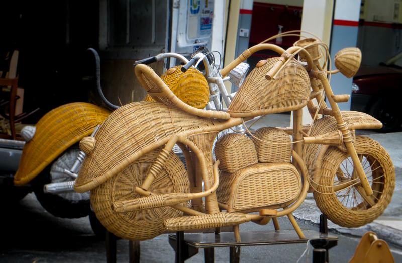 Motorcycle in Monastiraki Flee Market
