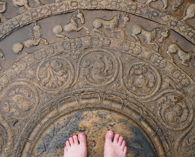 Moonstone de Polonnaruwa, Sri Lanka