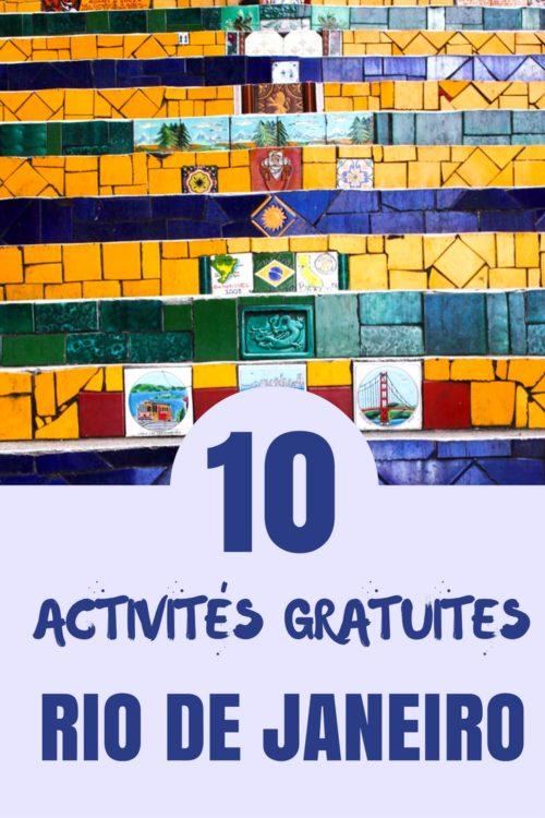 Visiter Rio de Janeiro |Quoi faire à Rio de Janeiro? Bien que Rio de Janeiro ne soit pas la destination #1 pour les voyageurs à petites budgets, voici quelques idées d'activités gratuites à faire en ville.