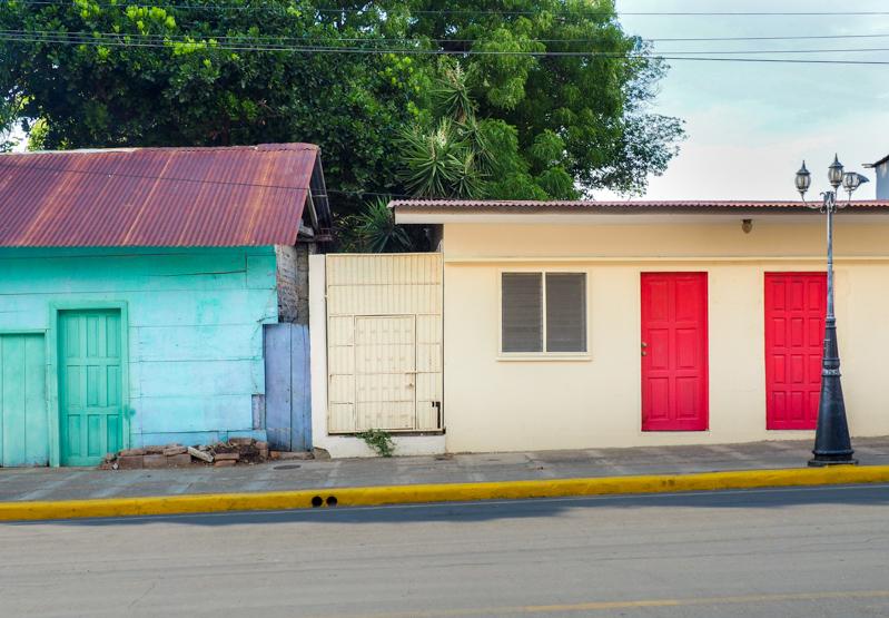 Maisons colorées San Juan del Sur