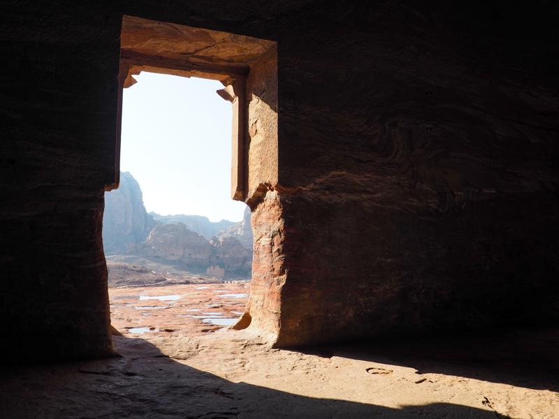 Vue de la tombe royale sur le site de Petra.