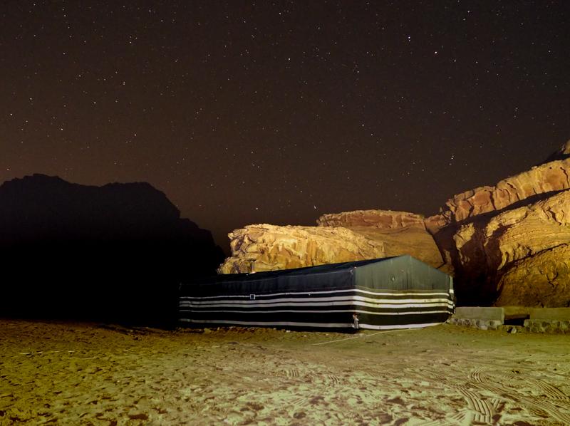 Une nuit dans le Wadi Rum