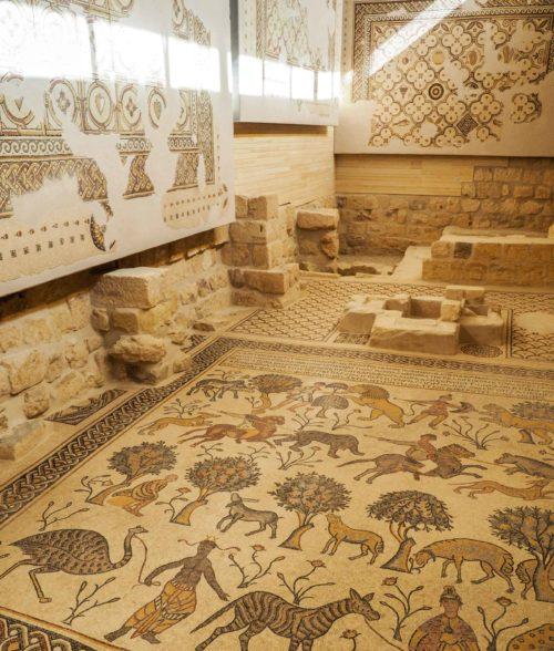 Mosaïque du Mont Nebo en Jordanie