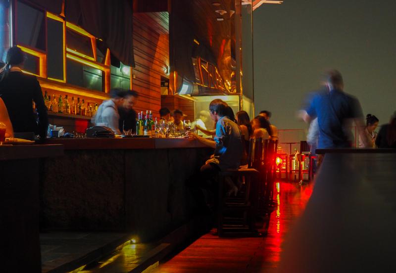 Octave, le bar sur le toit de l'hôtel Marriott de Bangkok.